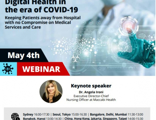Join us for a Live Webinar – Israeli Digital Health in the era of COVID-19 on Monday, 4 May 2020 from 14:00-15:30 HKT