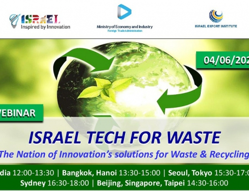 Webinar: Israel Tech for Waste – The Nation of Innovation's Solutions for Waste & Recycling