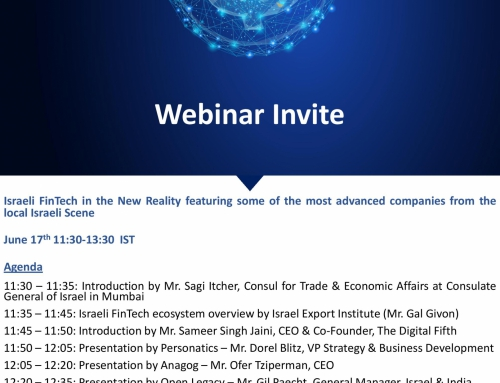 Webinar on Israeli Fintech in the new Reality on 17th June  2020