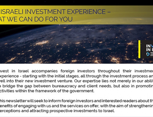 The Israeli investment experience – what we can do for you