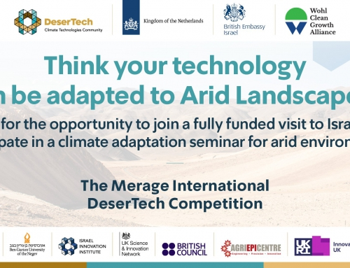Unique opportunity for UK and the Netherlands based companies to explore the DeserTech Sector in Israel